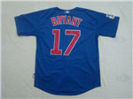 Chicago Cubs #17 Kris Bryant Blue Jersey