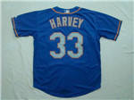 New York Mets #33 Matt Harvey Alternate Road Blue Jersey