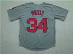 Boston Red Sox #34 David Ortiz Road Grey Jersey