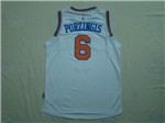 New York Knicks #6 Kristaps Porzingis White Jersey